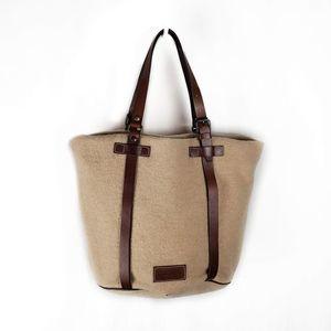Dooney & Bourke felted wool bucket tote bag